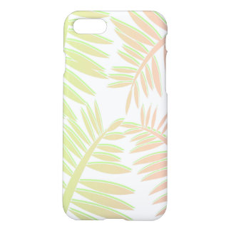 Pink and Green Gradient Palm Tree Leaves iPhone 7 Case