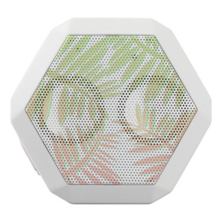 Pink and Green Gradient Palm Tree Leaves White Bluetooth Speaker