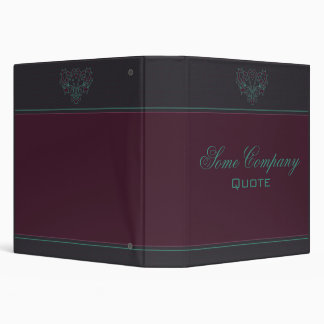 Pink And Green Heart Damask Binder