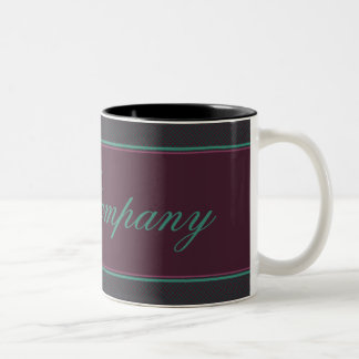 Pink And Green Heart Damask Two-Tone Coffee Mug