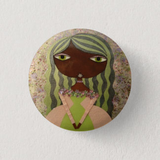 """""""Pink and Green I"""" 1""""Button by Sunny Crittenden! Button"""