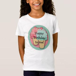 Pink and Green Ice Cream Happy Birthday T-Shirt