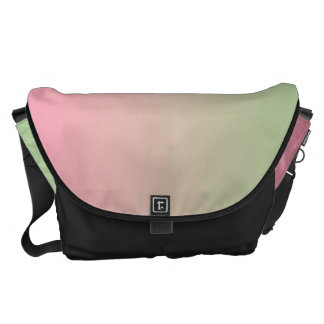 Pink And Green Large Courier Bag