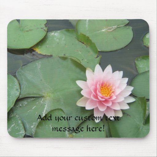 Pink and Green Lily Pad Pretty Photograph Mousepads