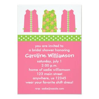 Pink and Green Lollipop Shift Dress Invitations