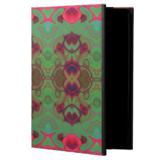Pink and green marble iPad air cover