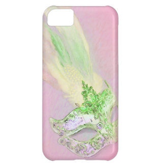 Pink and Green Masquerade Cover For iPhone 5C