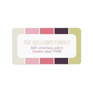 Pink and Green Modern Color Blocks Label