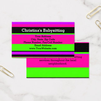 Diy babysitting business cards images card design and card template babysitting business card templates ninjaturtletechrepairs recent posts reheart images wajeb Gallery