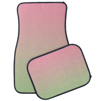 """Pink And Green Ombre"" Car Mat"