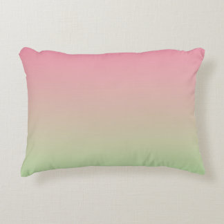 """""""Pink And Green Ombre"""" Decorative Pillow"""