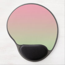 """Pink And Green Ombre"" Gel Mouse Pad"