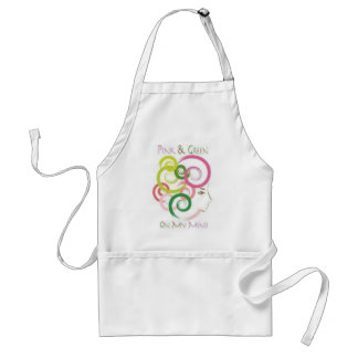 Pink and Green on My Mind Adult Apron