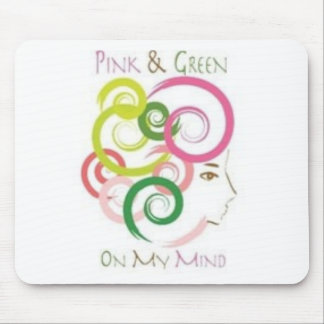 Pink and Green on My Mind Mouse Pad