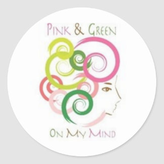 Pink and Green on My Mind Sticker