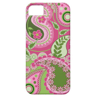 Pink and green Paisley iPhone 5 case