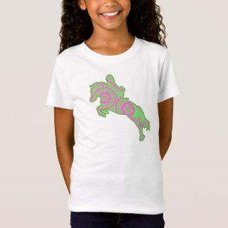 Pink and Green Paisley Jumping Pony Shirt