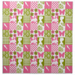Pink and Green Patchwork Napkin