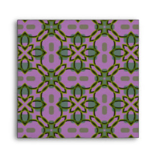 Pink and Green Pattern Envelope