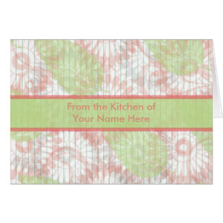 Pink and Green Personalized Recipe Card