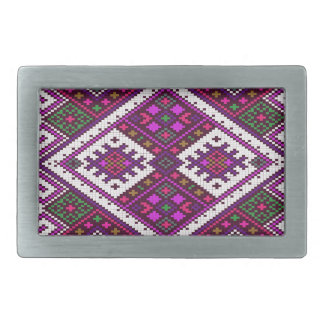 Pink and green Pixel pattern..a spring MUST have! Rectangular Belt Buckle