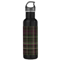 Pink and Green Plaid bottle