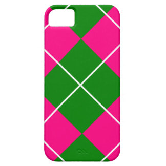 Pink and green Plaid patterns iPhone SE/5/5s Case