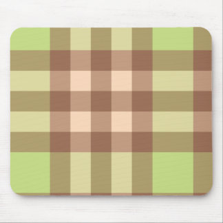 Pink and Green Plaid Striped Design Mouse Pad