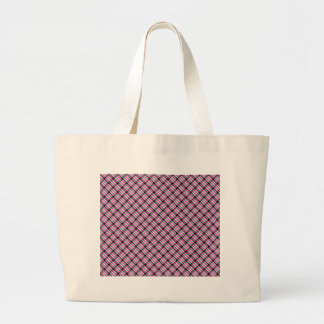 Pink and green plaid striped weave bags