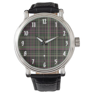 Pink and Green Plaid Watches