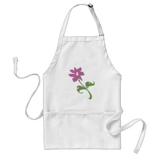Pink and Green Poetica Flower Adult Apron