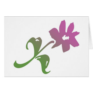 Pink and Green Poetica Flower Card
