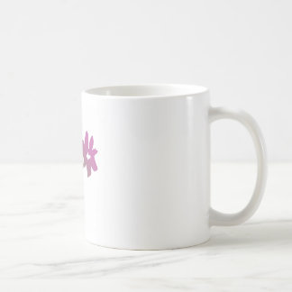 Pink and Green Poetica Flower Coffee Mug