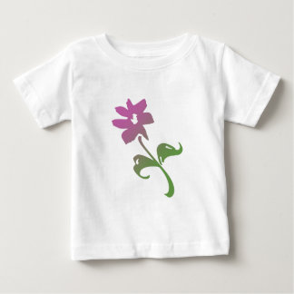 Pink and Green Poetica Flower T-shirt