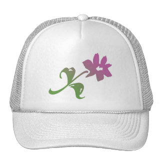 Pink and Green Poetica Flower Trucker Hat