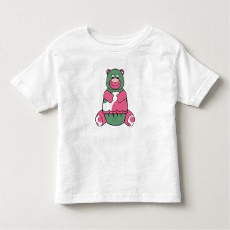 Pink And Green Polka Dot Bear T-shirts