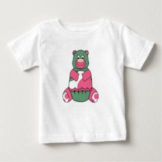 Pink And Green Polka Dot Bear Infant T-shirt
