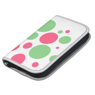 Pink and Green Polka Dots Custom Planner