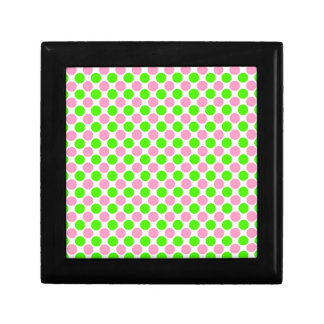 Pink and Green Polka Dots Jewelry Box