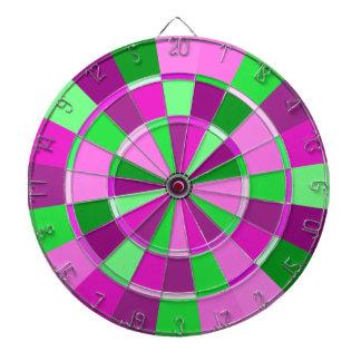 Pink and Green Preppy Sorority Dart Champion Dartboard