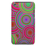 Pink and Green Retro Circles Pattern iPod Case-Mate Case