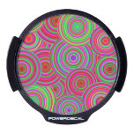 Pink and Green Retro Circles Pattern LED Window Decal