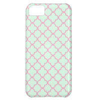 Pink and Green Retro Inspired Seamless Pattern iPhone 5C Cases (<em>$44.95</em>)