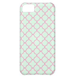 Pink and Green Retro Inspired Seamless Pattern Case For iPhone 5C
