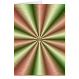 Pink and Green Ribbed Pleat Greetin Card