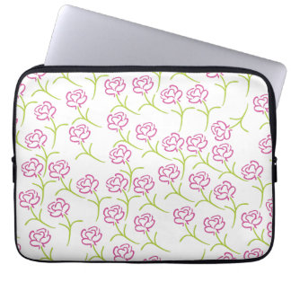 Pink and Green Roses Computer Sleeve