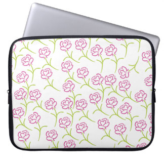 Pink and Green Roses Laptop Sleeve
