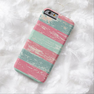 Pink and Green Rustic Wooden Fence Grunge Texture Barely There iPhone 6 Case