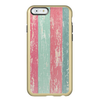 Pink and Green Rustic Wooden Fence Grunge Texture Incipio Feather Shine iPhone 6 Case