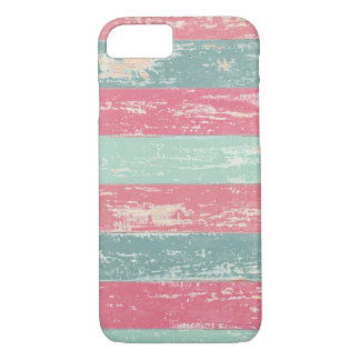 Pink and Green Rustic Wooden Fence Grunge Texture iPhone 8/7 Case